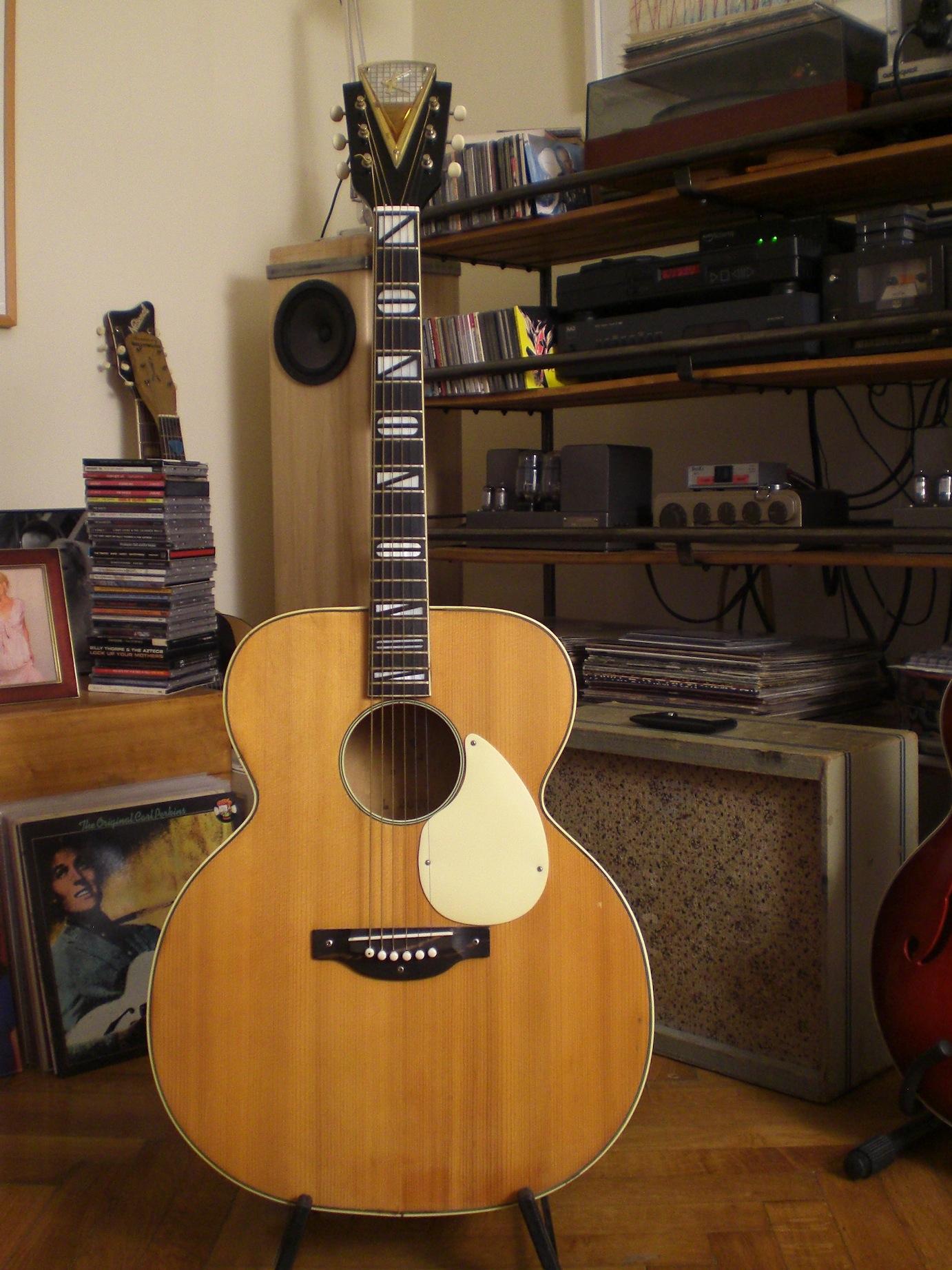 kay k 27 k 8117 acoustic guitar marginally irresponsible vintage guitars. Black Bedroom Furniture Sets. Home Design Ideas